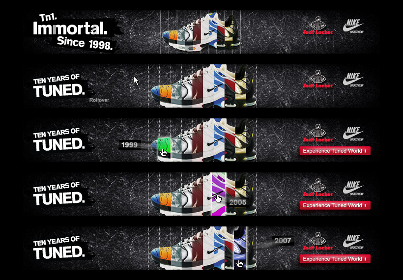 Footlocker: Nike Tuned banners