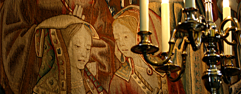Tapestry hanging in the palace