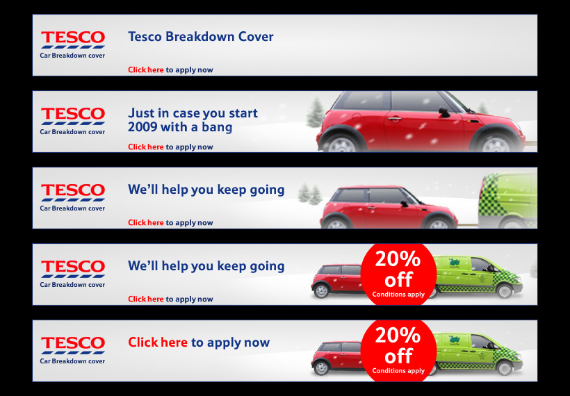 Tesco: Car Breakdown banners