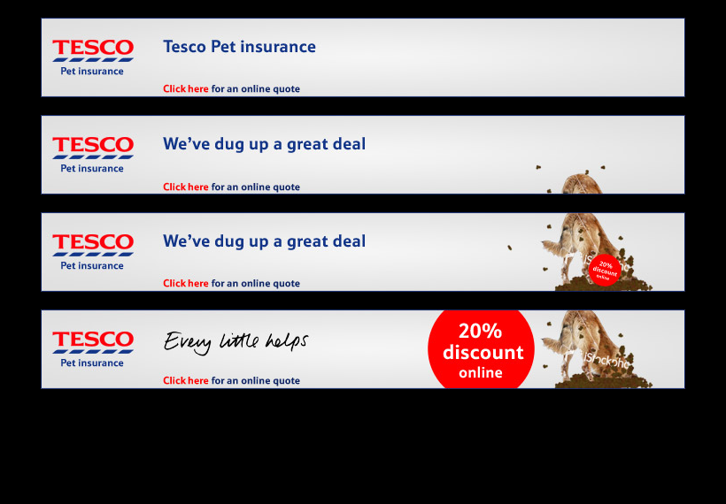 Tesco: Pet Insurance banners