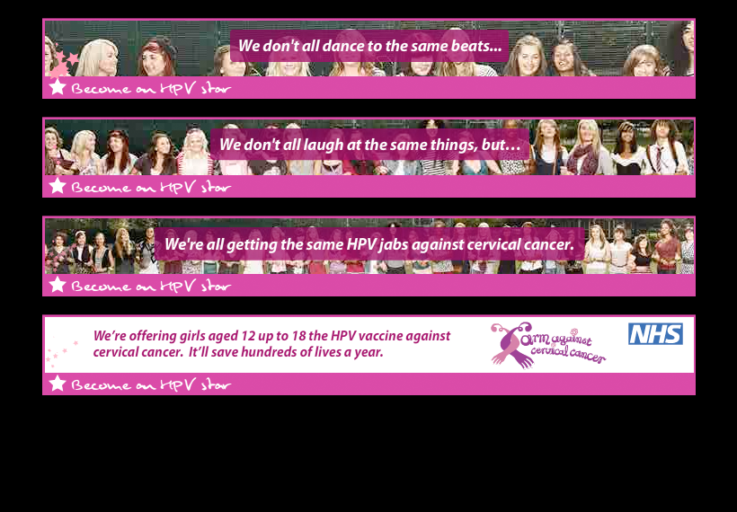 HPV Banners: 14-18 year old